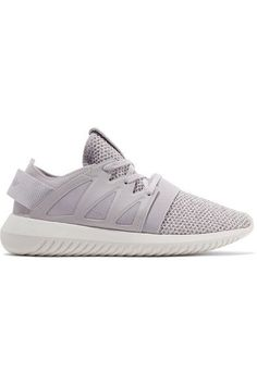 9024736038e610 adidas Originals - Tubular Viral leather-trimmed textured-knit sneakers