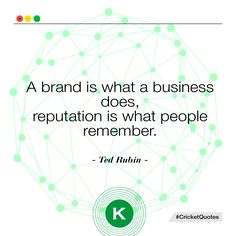 """""""Il brand è ciò che un'azienda fa, la reputazione è ciò che la gente ricorda"""" #quotes #citazioni #brand #business #marketing"""