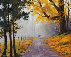 Pinturas que me gustan: arboles ,los colores del otoño