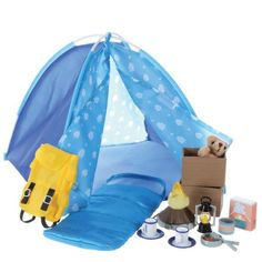 Lottie Doll's Brownie Camp Tent and Accessories Campfire Fun Playset Camping Toys, Camping Set, Toys For Girls, Kids Toys, Backpacking Sleeping Bag, Campfire Fun, Boy Doll, Girl Dolls, Doll Accessories