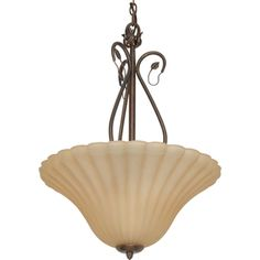 Nuvo 'Vine' 3-light Sonoma Bronze Pendant  @Overstock - The Vine 3-light pendant's delicate arms are detailed with small leafs which gently curve to create a large open focal point. The sonoma bronze finish is reminiscent of the earth and sun as the golden husk fabric shade add a sense of the harvest.http://www.overstock.com/Home-Garden/Nuvo-Vine-3-light-Sonoma-Bronze-Pendant/7492324/product.html?CID=214117 $49.99