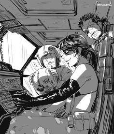 """feriowind: """" Someone commissioned me to draw Pequod teaching Quiet how to pilot the helicopter while Venom watches worriedly in the background. :^) Quiet is very proactive. Metal Gear V, Metal Gear Solid Quiet, Snake Metal Gear, Metal Gear Games, Metal Gear Solid Series, Metal Gear Rising, Alita Battle Angel Manga, Mgs V, Gear Art"""