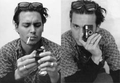 Johnny Depp with camera  www.facebook.com/adrianshieldsphoto