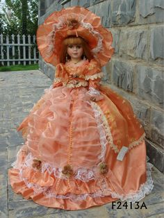 Beautiful  porcelain doll classic design