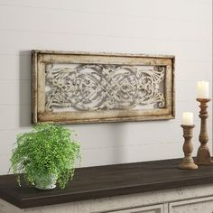 Breakwater Bay Pieced Wood American Map Wall Decor, Wood in Gray, Size Small (12