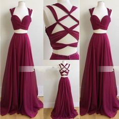 Outlet Sleeveless Prom Dress, Outlet Two Piece Sexy Prom Dresses, Outlet Chiffon Evening Dress, Outlet Long Evening Dresses (Outlet Prom Dress 51472)