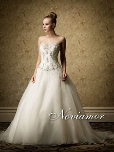 Noviamor Vintage Inspired Sweetheart 2013 Bridal Gown with Embellished Bodice NW1091