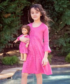 Another great find on #zulily! Marsala Pink Fleur Dress & Doll Dress by Lilli Lovebird #zulilyfinds