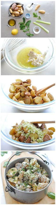 Lemony Roasted Potato Salad