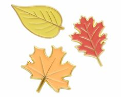 Autumn leaves enamel lapel pin set – kate gabrielle