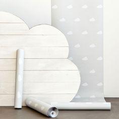 zara home - papier peint nuage