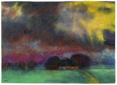 Algida, come deve essere la mostra di un espressionista i cui turbamenti sono travolti dal colore, e graziata da un uso discreto delle luci, la retrospettiva che il magnifico Louisiana Museum of Modern Art – trentacinque kilometri a nord di Copenaghen, sullo stretto di Ooresund – ha organizzato per riassumere l'opera di Emil Nolde, si presta a rendere eclatanti, nell'immacolato rigore del suo allestimento, i travagliati contrasti di cui fu seminato il tragitto artistico e personale…