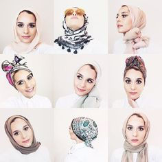 Some of favourite looks from my scarf styling video! Link is in my bio! There was a reason for all those selfies LOL plus I got a little ocd over my page ✌️ #dinatokio
