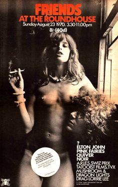 02_1_uschi-obermaier-friends-at-the-roundhouse-pink-fairies-elton-john-quiver-noir-poster-size-vintage-music-press-advert-5964-p