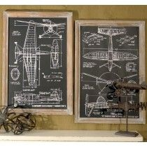 Framed Airplane Design Prints | Airplane Wall Art