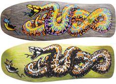 Santa Cruz Skate Art by Jim & Jimbo Phillips - Digital Art Mix Best Skateboard Decks, Skateboard Decor, Skateboard Design, Old School Skateboards, Vintage Skateboards, Cool Skateboards, Viking Warrior Tattoos, Original Skateboards, Skateboard Companies