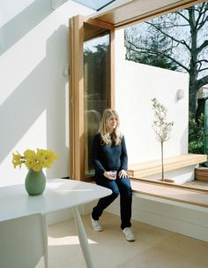 Window seat in side return extension