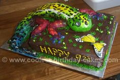 Coolest Lizard Birthday Cake Photos