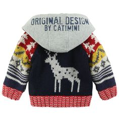 Urban Global cardigan with hood / Catwalk Kids Toddler Fashion, Kids Fashion, Autumn Fashion, Fashion Design, Christmas Jumpers, Christmas Sweaters, French Designer Brands, Fall Outfits, Kids Outfits