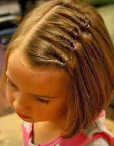 Cute little girl hair style that my bigger girls would love with their shorter styles