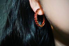 #серьги #RoseBrinelli #мода #красный #блеск #красиво #бижутерия