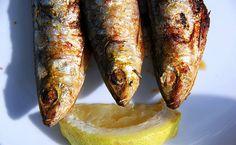 sardines and a slice of lemon