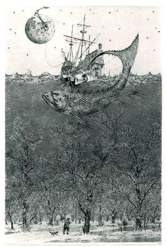 Konstantin Kalynovych - Flight to Nowhere. (etching, dry point)