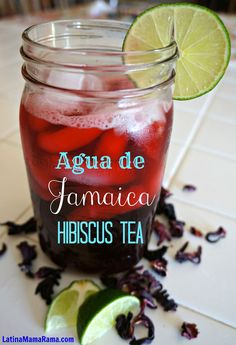 Agua de Jamaica/ Hibiscus Tea- after a recommendation from a friend I went out a. Agua de Jamaica/ Hibiscus Tea- after a recommendation from a friend I went out and bought some hibiscus flowers and made my own tea. Tea Smoothies, Juice Smoothie, Smoothie Drinks, Diet Drinks, Summer Drinks, Fun Drinks, Healthy Drinks, Beverages, Refreshing Drinks
