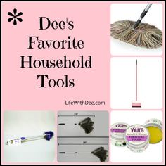 Dee's favorite household tools - Life with Dee Homemaking, Housekeeping, Cleaning Hacks, Household, Tools, My Favorite Things, Organizing Ideas, Life, Home Economics