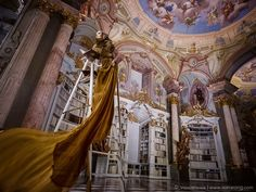 The world gasped in 1991 when the Beast first showed Belle his library in the classic Disney princess film. The Von Wong team pretty much had the same reaction walking through the alabaster doors of Admont Abbey – the oldest monastic library in the world very and reminiscent of Belle's library. BoredPanda
