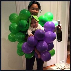 Grape bunch babywearing costume from @MiaMilly