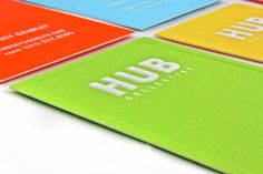 HUB Business Cards by HUB Collective , via Behance