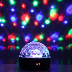 Party Globe Light Show Projector Sound Activited 6 Color Dj Stage, Stage Lighting, Globe Lights, Cool Gadgets, Party Supplies, Consumer Electronics, Usb, Crystal Magic, Crystals