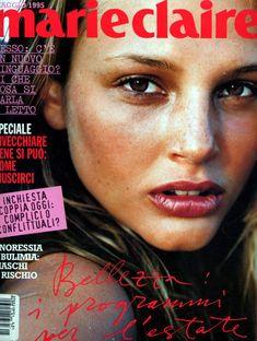 Magazine Cover Page, Fashion Magazine Cover, Fashion Cover, 90s Fashion, Runway Fashion, 90s Makeup, Beauty Makeup, Marie Claire, Bridget Hall