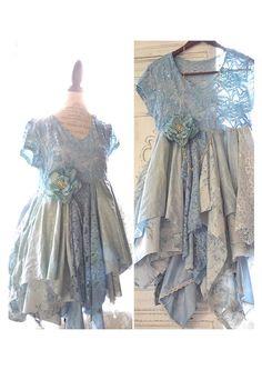 Grande Sexy robe, robe Boutique pays Français, volant robe de glissement, robe en dentelle de sérénité, bohème dentelle robes, minable vrais rebelles vêtements