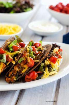Bean and Quinoa Tacos - Vegan