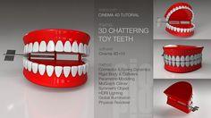 Cinema 4D Tutorial - 3D Chattering Toy Teeth on Vimeo