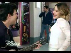 """Violetta 3 - Diego, Francesca y Violetta cantan """"Ser Quien Soy"""" - Capítulo 44"""