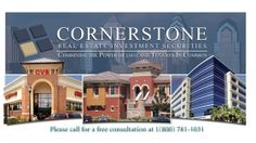 Cornerstone Real Estate Investment Securities specializes in real estate investment securities such as  Delaware Statutory Trust (DST) and Tenant in Common (TIC) investment properties for section 1031 exchange (replacement properties), Real Estate Investment Trusts (REITs) and real estate funds.