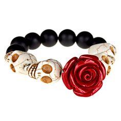 Dia De Los Muertos Bracelet Day of the Dead by VangielinaJewelry, $25.00