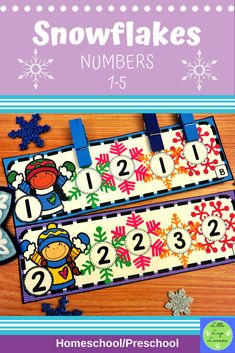 These Snowflake Number Lessons are the perfect addition for Math Centers for homeschool/ preschool. This time saving, leveled resource is engaging with its vibrant pictures and stimulating content! Your multi-aged 2-3 year old children will enjoy learning about the Snowflake and numbers with these interactive lessons. Numbers Preschool, Preschool Math, Preschool Winter, Morning Activities, Snow Theme, Number Activities, Lugano, Time Saving, Dramatic Play
