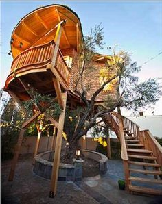 "Animal Planet provides us the ""Tree House Masters"" and their wonderful tree houses, this one is the Irish Cottage by Pete Nelson."