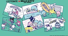 Check out the theme spoilers + coupon for the Sanrio Hello Kitty and Friends June 2020 crate! Gift Crates, Best Subscription Boxes, Sanrio Characters, Sanrio Hello Kitty, Coupons, Mystery, Kawaii, Comics, Friends