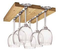 This Wooden Wine Glass Rack provides you with an easy and convenient way to store and organize your wine glass collection. This Wooden Wine Glass Rack provides you with an easy and convenient way to store and organize your wine glass collection. Hanging Wine Glass Rack, Wine Glass Storage, Wine Glass Holder, Hanging Wine Glasses, Wooden Wine Holder, Wooden Rack, Wooden Boxes, Wine Rack Cabinet, Wine Rack Wall