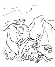 32 Best Ice Age images   Free printable coloring pages, Coloring ...