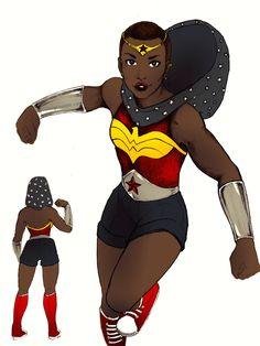 comicunimind:   Wonder Woman Re-Design  LOVE