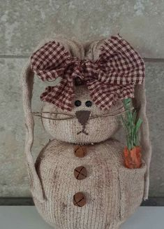 Sock Snowman Craft, Sock Crafts, Bunny Crafts, Snowman Crafts, Easter Projects, Easter Crafts For Kids, Spring Crafts, Holiday Crafts, Easter Baskets To Make