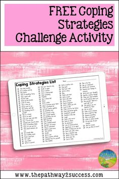Grab a free printable and digital coping strategies challenge to help kids and teens learn the skills they need for self-regulation. Emotional Regulation, Self Regulation, Social Work, Social Skills, Student Learning, Teaching Kids, Anger Management For Kids, Student Calendar, Positive Self Talk