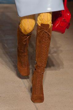 Miu Miu Spring 2014 Knee-High Lace-Up Boots