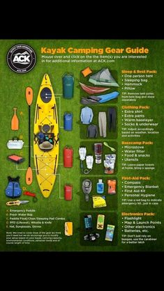 Sit On Top Kayak Camping Overnight kayak trip? This would be such an awesome family vacation idea! - From survival to s'mores, here's everything you need to know to ensure a flawless camping trip. Kayak Camping, Zelt Camping, Canoe And Kayak, Camping Survival, Camping And Hiking, Camping Hacks, Outdoor Camping, Kayaking Gear, Hiking Gear